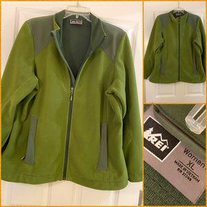 REI lined fleece jacket sz xl